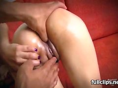 Laura Toro - Messy Facial After Brunette Teen Latina Rides C