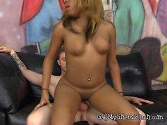Ebony Babe Mocha Sinn Gets Pussy And Ass Fucked