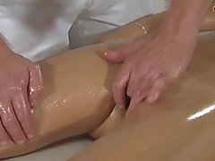 Massage revival:fearsome fit and sophisticated older lady turns on her masseur