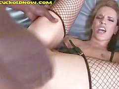 Giant Black Cock in Redheads Asshole