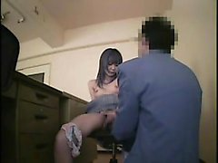 Business man toys his secretary then bends her over to nail