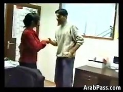 Horny Arab Lovers Doing It In The Office