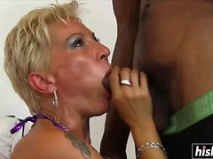 Mature blonde got fucked hard and raw