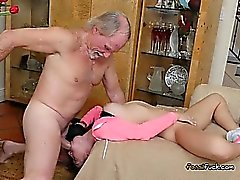 Teen Crystal Rae Lets Old Guy Fuck Her Holes Hard