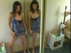 Girl from kikme masturbating herself in front of the mirror