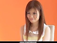 Sexy casting porno con el bebé joven asiática Nao