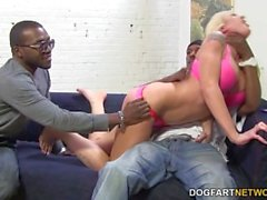 Leya Falcon gets gangbanged by big black cocks