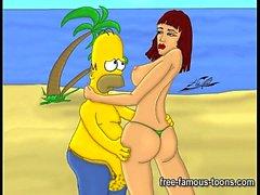 Simpson e Futurama orge hentai