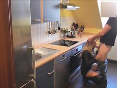 Horny Milf Housewife Fucked in the Kitchen