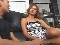 AMWF Latina Monique Fuentes interracial with Asian guy