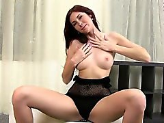 Kattie gold delivers a great blowjob and handjob