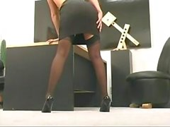 Sexy Secretary with Shaved Pussy GV00053