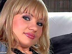 Young pale petite Sasha Rose talks about double penetration