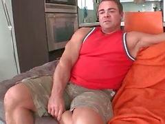 Muscled gay bear sucks large black gay part1