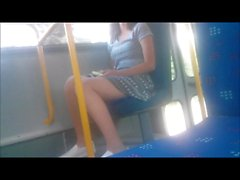 Sexy Teen Legs on bus