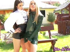 Wam lesbo fisted outside