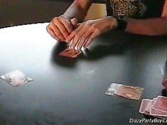 Several horny faggots gathered up to play a strip poker.