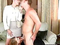 Teens fucking caught by strict stepmom
