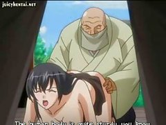 Passive hentai pigeon with a lustful dugout gets screwed at a temple