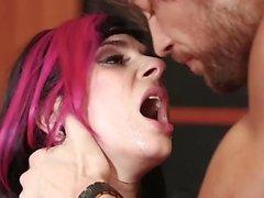 Latex secretary 03 - Naked, Fucked, Tattoos