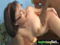 White Babe takes Giant Black Dick 28