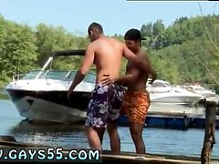 Gay outdoor pee cum Two Dudes Have Anal Sex On The Boat!