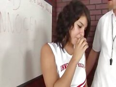 twenty cheerleader fucks with her coach