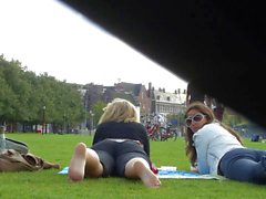 Candid soles in amsterdam