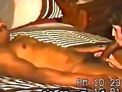 Vintage mommy swinger cums hardcore on ebony sextoy