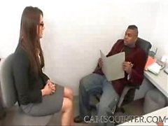 Tori Black Office Mistress fucked hard by a Black dude - camsquirter