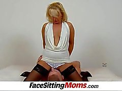 Hot legs blonde milf Koko stockings and facesitting