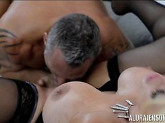 Alura Jenson and Her Huge Tits Swallows Marcus London