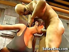 3D Babe Zombies Cum !