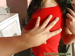 POV creampie with young Rebeca Linares