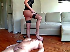 Man gets dominated by elegant MILF Gabriele Gucci