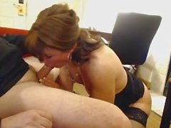 brunette mature slow blow
