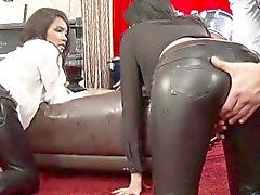 Wam leather clad sluts