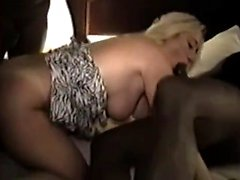 Hot blonde milf fucked by sexy guys that were black