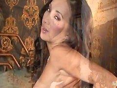View Katsumi Masturbates In Sexy Lingerie And Stockings