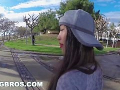 BANGBROS - Asian Babe Sharon Lee Takes a FAT Dick Up Her BIG ASS in Public