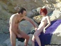 Holiday Beach Sex French Couple