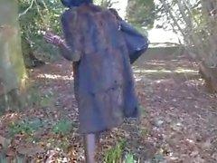 Mature women in fur coat