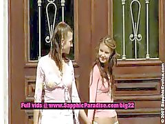 Yalama juliette ve Klara ve Zoe lezbiyen bebek