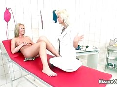 Horny nurse stuffing her patient vag part5