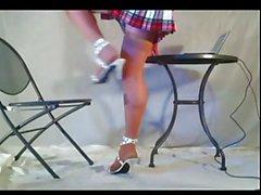 Legs,miniskirt & heels