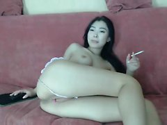 Asian Babe Toying Wet Pussy