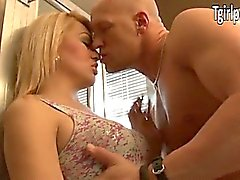 Blonde TS Gianna Rivera blowjob and anal