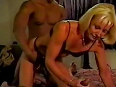 Beautiful wife blacked infront of her husband