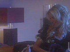 Coquines Blonde Jessica Drake le faire avec beau mec