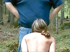 slave girl suck master in the woods